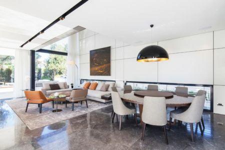 salon et séjour - Maison contemporaine béton par Ron Aviv - Tel Aviv, Israël