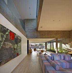 salon et séjour - Modern Residence par Anastasia Architects- Belo Horizonte, Brésil -Photo Jomar Bragança