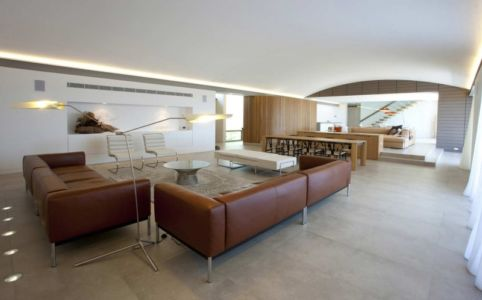 salon et séjour - Mosman house par Popov Bass Architects - Sydney,Australie - photo Kraig Carlstrom