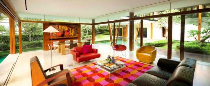 salon et séjour - Water Lily House par Guz Architects - Singapour