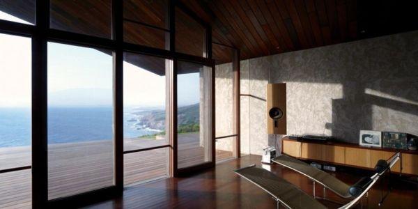 salon et terrasse - Clifftop House Maui par Dekleva Gregoric Arhitekti - Maui, Hawaï