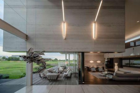 salon et terrasse - JRB House par Reims Arquitectura - Santa Domingo, Mexique