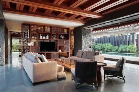 salon et terrasse - Villa Pecatu par Wahana Cipta Selaras - Pecatu, Indonésie
