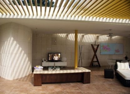 salon extérieur - Wa`atal House par Broissin Architects, Mexico City, Mexique