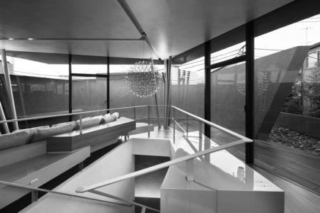 salon & grande baie vitrée - SRK par Artechnic - Meguro, Japon