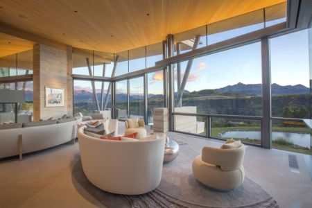 salon & grande baie vitrée - home-Colorado par Bill Poss - Colorado, USA