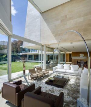 salon & grande baie vitrée - Club-Residence par Migdal Arquitectos - Mexico, Mexique