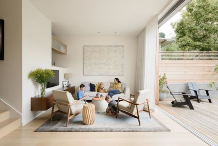 salon - house-young-family par Feldman Architecture - San Francisco, USA