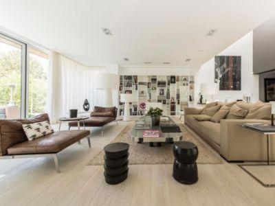 salon - magnifique propriété à vendre à Uccle en Belgique