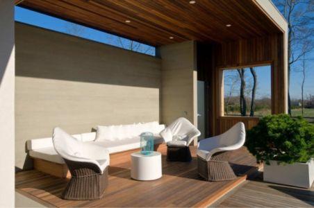 salon mini terrasse - Fieldview house par Blaze Makoid Architecture - East Hampton, Usa