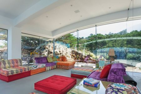 salon oriental - Carmel Highlands Residence par Eric Miller Architects - Carmel-By-The-Sea, Usa