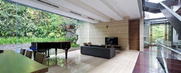 salon & séjour - Ben House-GP par Wahana Architects - Jakarta, Indonésie