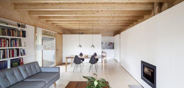 salon & séjour - House LLP par Alventosa Morell Arquitectes - Collserola, Espagne
