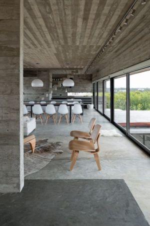 salon & séjour - House-three-forms par Luciano Kruk - Buenos Aires, Argentine