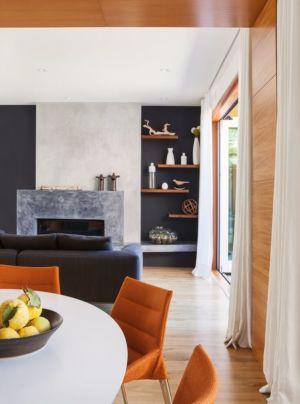 salon & séjour - Los-Altos-House Dotter Solfjeld Architecture - Los Atlos, USA
