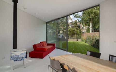 salon & séjour - Villa-Juliana par Borren Staalenhoef Architects - Leeuwarden, Pays-Bas