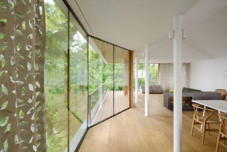 salon & séjour étage - Hillside-Home par Multiplan Arhiteki - Ljubljana,Slovénie