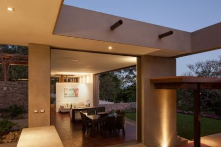 salon & séjour illuminé - Garden-House par Cincopatasalgato - El Salvador