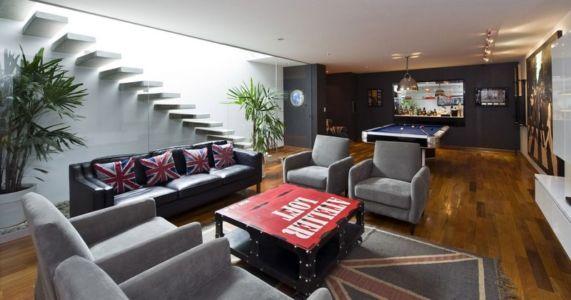 salon & salle de jeu billard - casa-v par Estudio 6 Arquitectos - Perou
