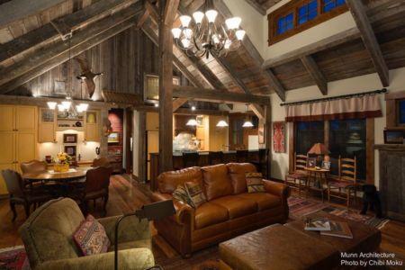 salon & salle séjour - Camp 88 par Munn Architecture - Colorado, USA