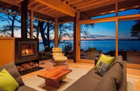 salon & superbe vue sur mer - bunny-lane par Heliotrope-Architects - Washington, USA