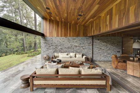 salon terrasse - Casa MM par Elías Rizo Arquitectos - Mexique