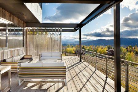 salon terrasse - Contemporary Western par Hoyt Architects & CTA Group - Usa