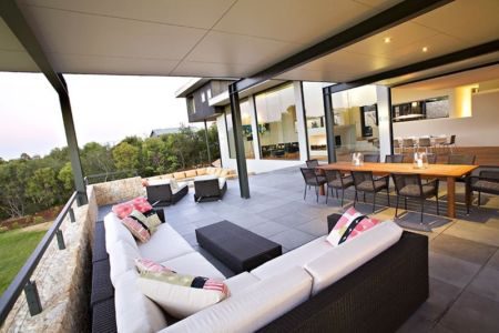 salon terrasse - House 14 par Dane Richardson Design - Eagle Bay, Australie