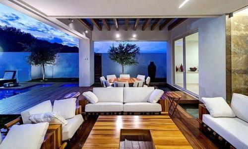 salon terrasse - House-S par Lassala Elenes Arquitectos - Zapopan, Mexique