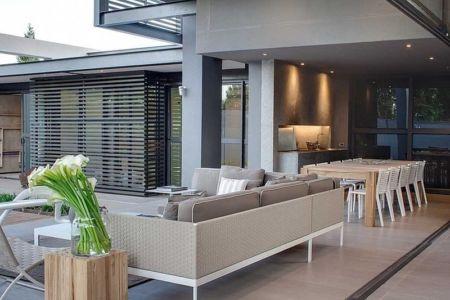 salon terrasse - House Sar par Nico van der Meulen Architects - Johannesbourg, Afrique du Sud