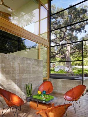 salon terrasse - The Hog Pen Creek Residence par LakeFlato - Austin, Usa