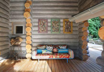 salon terrasse - Wooden Cottage par Elena Sherbakova près de Moscou, Russie