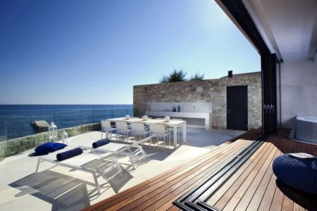 salon terrasse balcon - House Sperone par Studio Metrocubo - Novigrad, Croatie