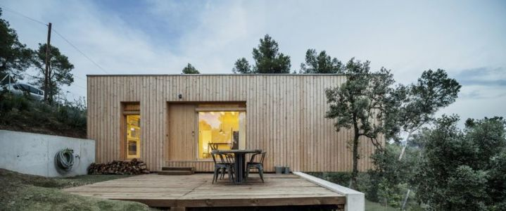 salon terrasse bois - House LLP par Alventosa Morell Arquitectes - Collserola, Espagne