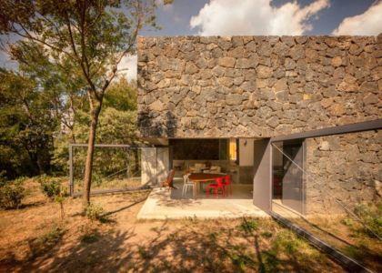 salon terrasse design - Casa-Meztitla par EDAA - Tepoztlan, Mexique