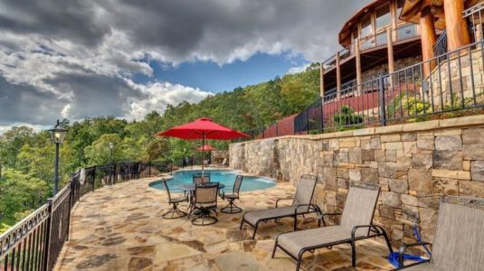 salon terrasse design - Mountain-Top-Manor - Blue Ridge, Georgie