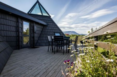 salon terrasse design - Vacation-home par Stunning Pyramid - Thingvellir, Islande