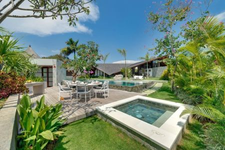 salon terrasse design - Villas-Spa par Layar Designer - Bali, Indonesie