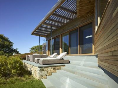 salon terrasse design - Vineyard-Farm-House par Charles Rose Architectes - Vineyard, USA