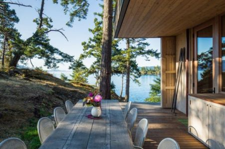 salon terrasse design - Woodsy-Retreat par Heliotrope Architects - Washington, USA