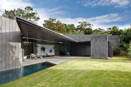 grande terrasse et piscine - casa-altamira par Joan Puigcorbé - Ciudadd Colon, Costa Rica
