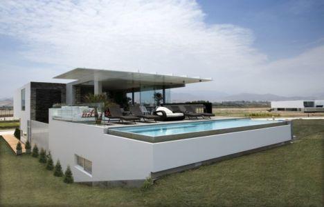 salon terrasse design & piscine - casa-v par Estudio 6 Arquitectos - Perou
