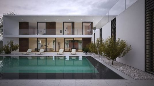 salon terrasse design & piscine - maison exclusive par A.Mascow Architects - Almaty,Kazakhstan