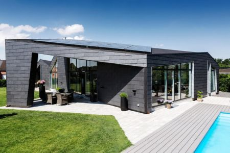 salon terrasse design & piscine - maison exclusive par Skanlux - Danemark
