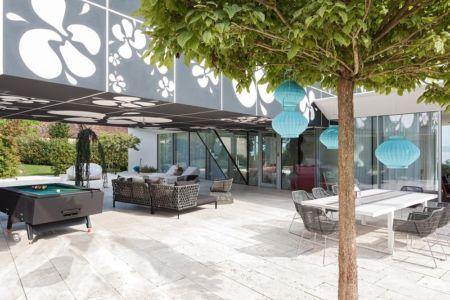 salon terrasse design - villa-am-bodensee par jung - lac constance, Suisse