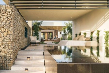 salon terrasse et piscine - villa contemporaine par Blue Heron - Henderson, USA - Copie