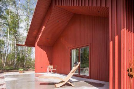 salon terrasse design - villa-vallmo par Thomas Sandell - Skaraborg, Suède