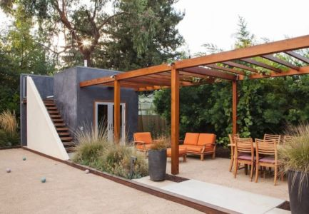 salon terrasse design - Los-Altos-House Dotter Solfjeld Architecture - Los Atlos, USA