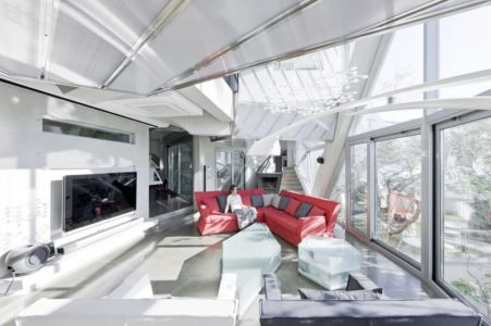 salon très design - HWA HUN par IROJE KHM Architects - Pyeongchang-dong, Corée du Sud