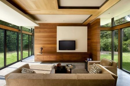 salon tv - Bray's Island SC Modern II par SBCH Architects - Sheldon, Usa
